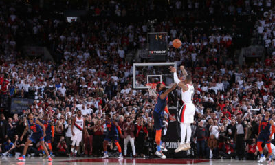 RIP OKC. Dame Time Clocks Thunder's Reign From Way Downtown PDX