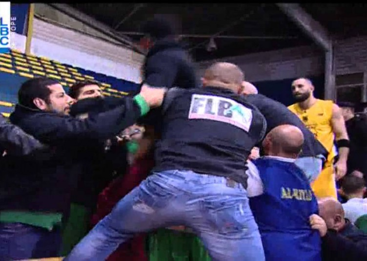 Riyadi's Ali Mahmoud & Sagesse's Terrell Stoglin Turn Beirut Derby into Mass Brawl