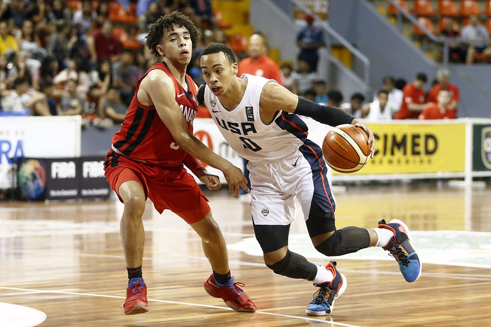 Ryan Nembhard Guards Usa Amari Bailey 2019 U16 Fiba Americas