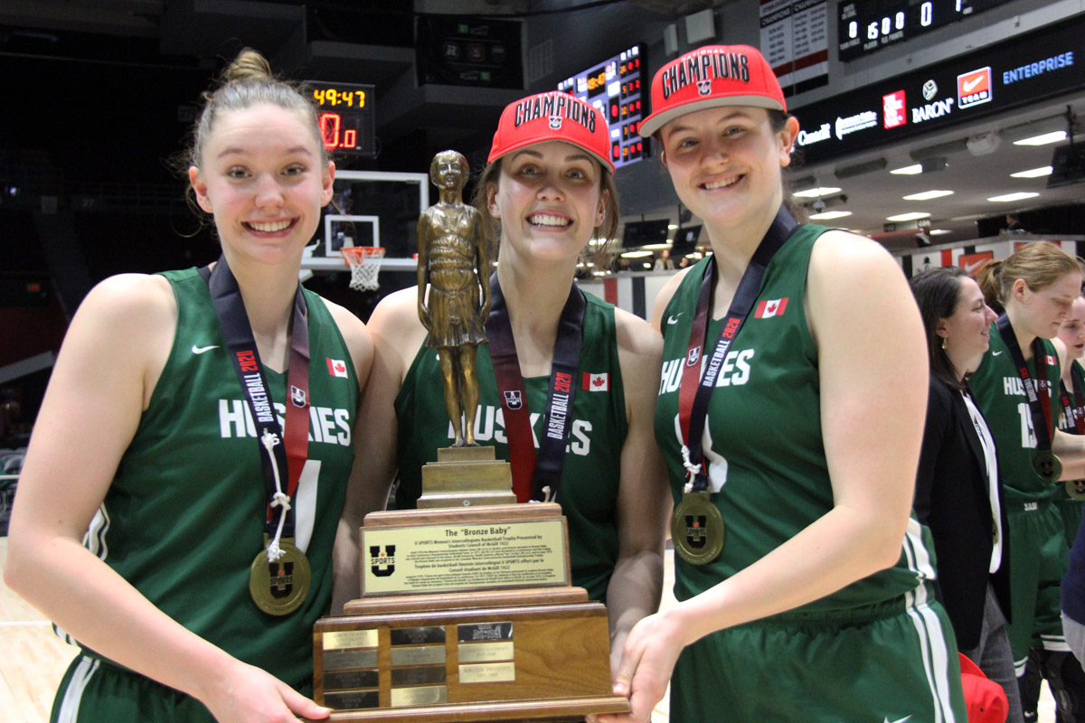 saskatchewan huskies 2020 usports basketball womens national champions
