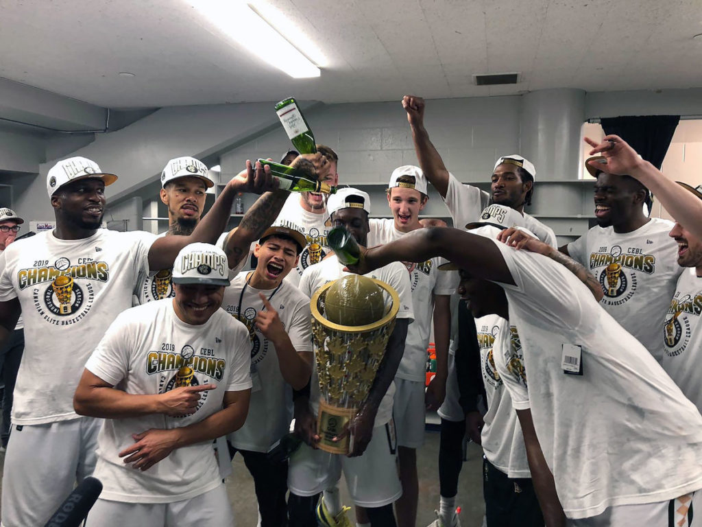Saskatchewan Rattlers 2019 Canadian Elite Basketball League Champions