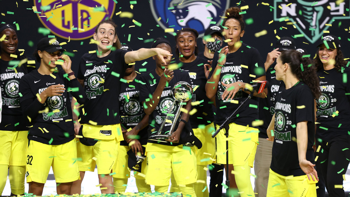 Seattle Storm Celebrate 2020 Wnba Championship