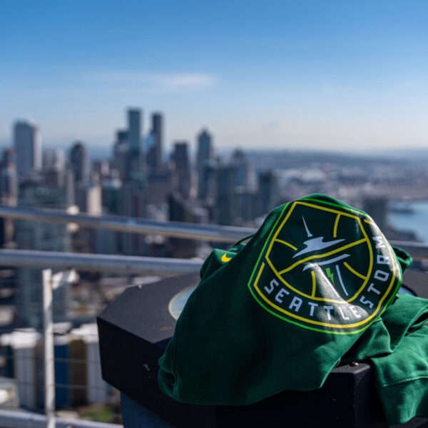 Seattle Storm Put Their New Logo Atop The Space Needle