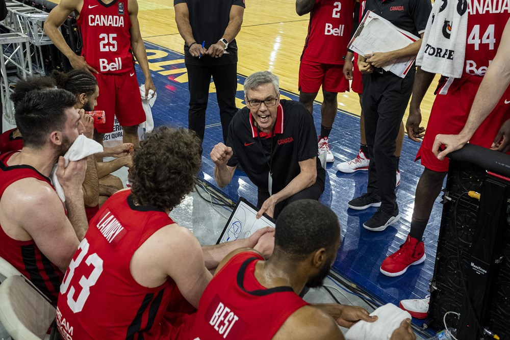 team canada huddle head coach gordon herbert fiba 2021 americup qualifiers