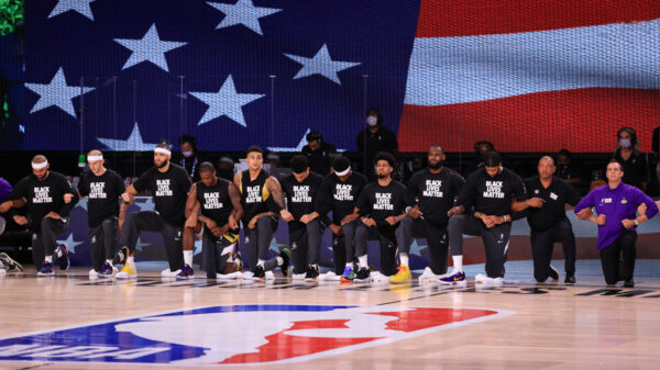 The NBA Takes A Knee In Unison Because Black Lives Matter