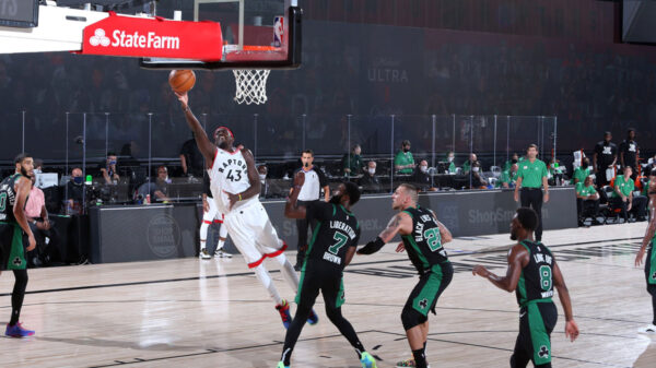 Toronto Raptors Pascal Siakam Scores Tough Basket Against Jaylen Brown And The Boston Celtics 2020 NBA PlayoffsToronto Raptors Pascal Siakam Scores Tough Basket Against Jaylen Brown And The Boston Celtics 2020 NBA Playoffs