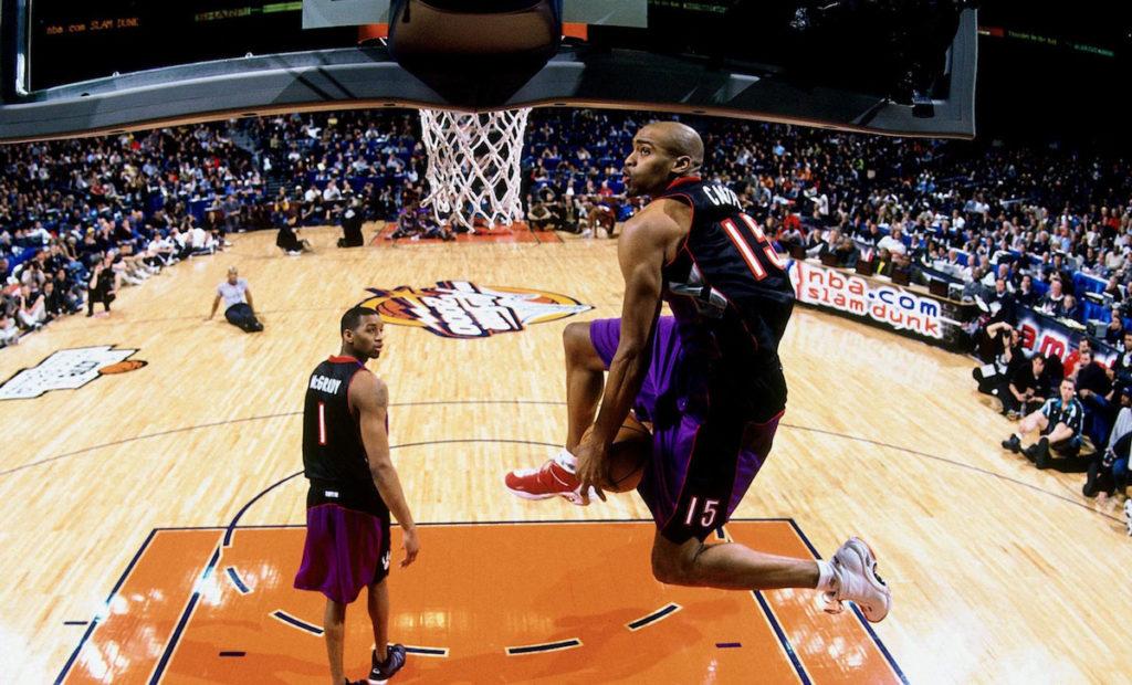 Toronto Raptors Vince Carter Between The Legs Dunk 2000 Dunk Contest
