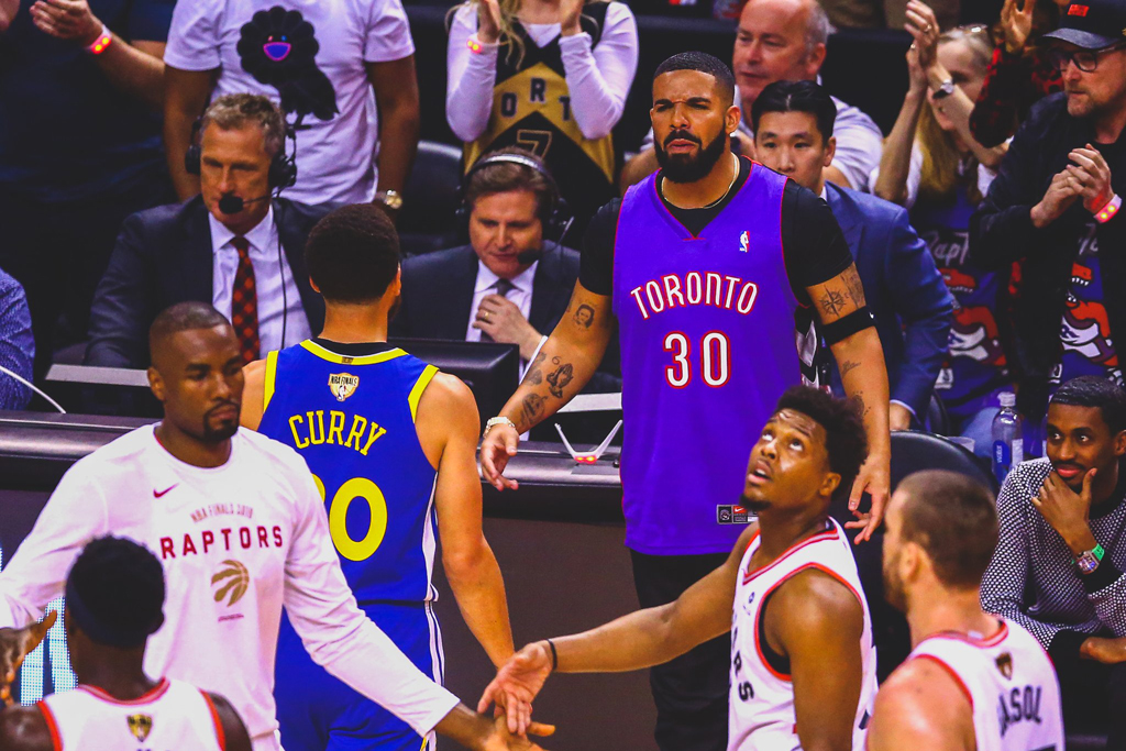 Toronto Raptors Walk The Dinosaur All Over The Warriors In Game 1