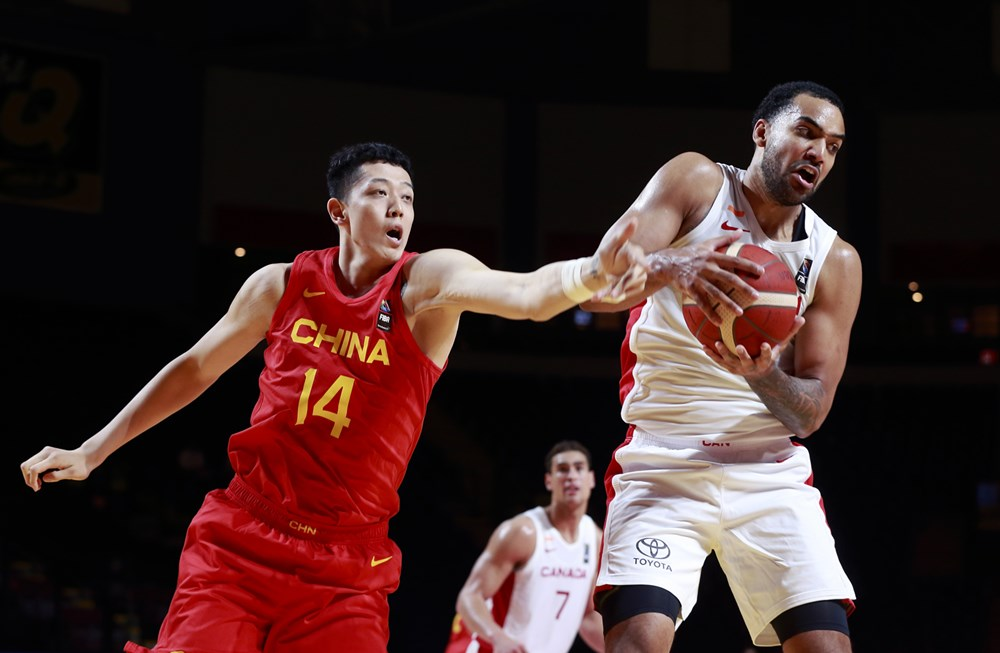 Trey lyles rips down a big rebound helps canada basketball overwhelms china in lopsided 109 79 win at 2020 fiba olympic qualifying tournament