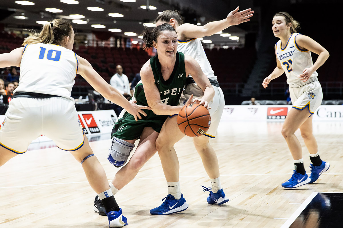 u sports player of the year jenna mae ellsworth leads upei to first round upset over ryerson