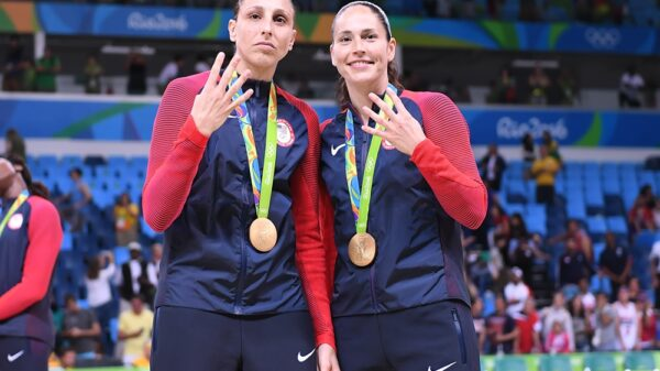 Usa basketball taking the torch dianna taurasi and sue bird lead the way to tokyo