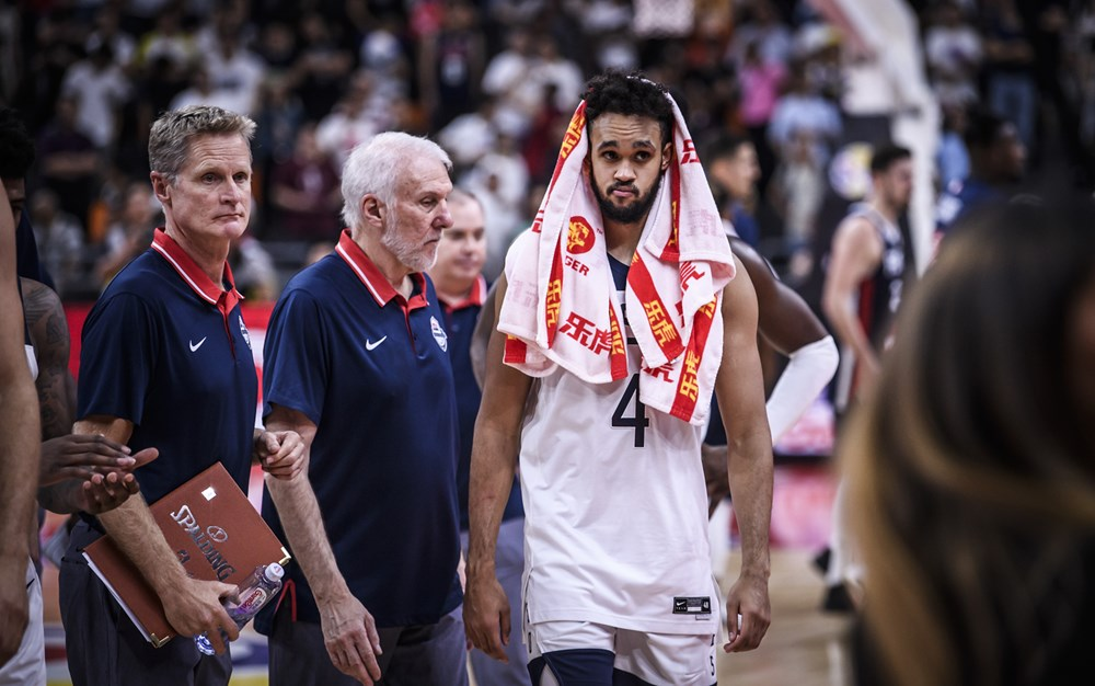 Usa Leave The Floor After 89 79 Upset Loss Tofrance 2019 Fiba World Cup