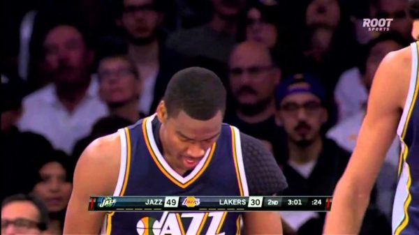 Utah Jazz's Alec Burks sends Kobe Bryant flying with sweet behind-the-back crossover