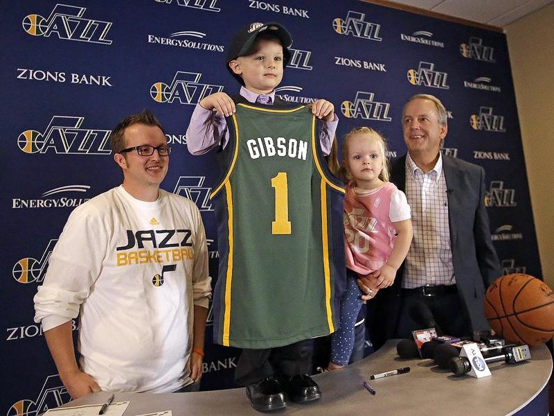 Utah Jazz Sign Five-Year Old J.P. Gibson