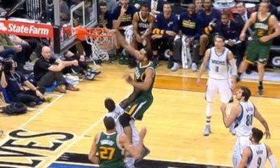 Utah Jazz Trey Lyles Victimizes Gorgui Dieng