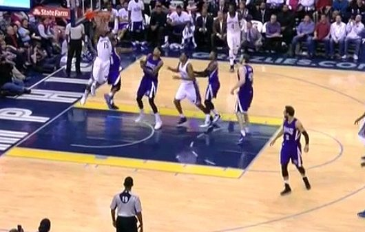 Vince Carter catches Rondo napping throws down reverse Alley-oop