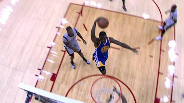 Warriors Harrison Barnes spikes it all-over Dwight Howard