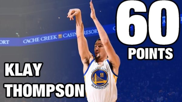 Warriors' Klay Thompson Explodes Career High 60 Points, In 29 Minutes