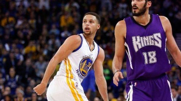 Warriors Steph Curry & Kings Omri Casspi Three-Point Shootout