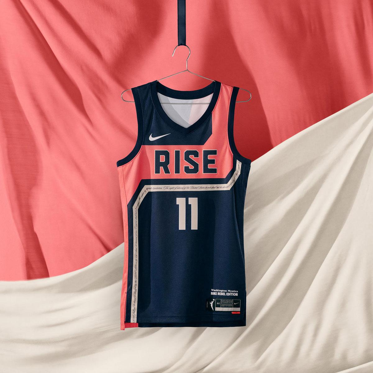 Washington Mystics Rise 2021 WNBA Jerseys