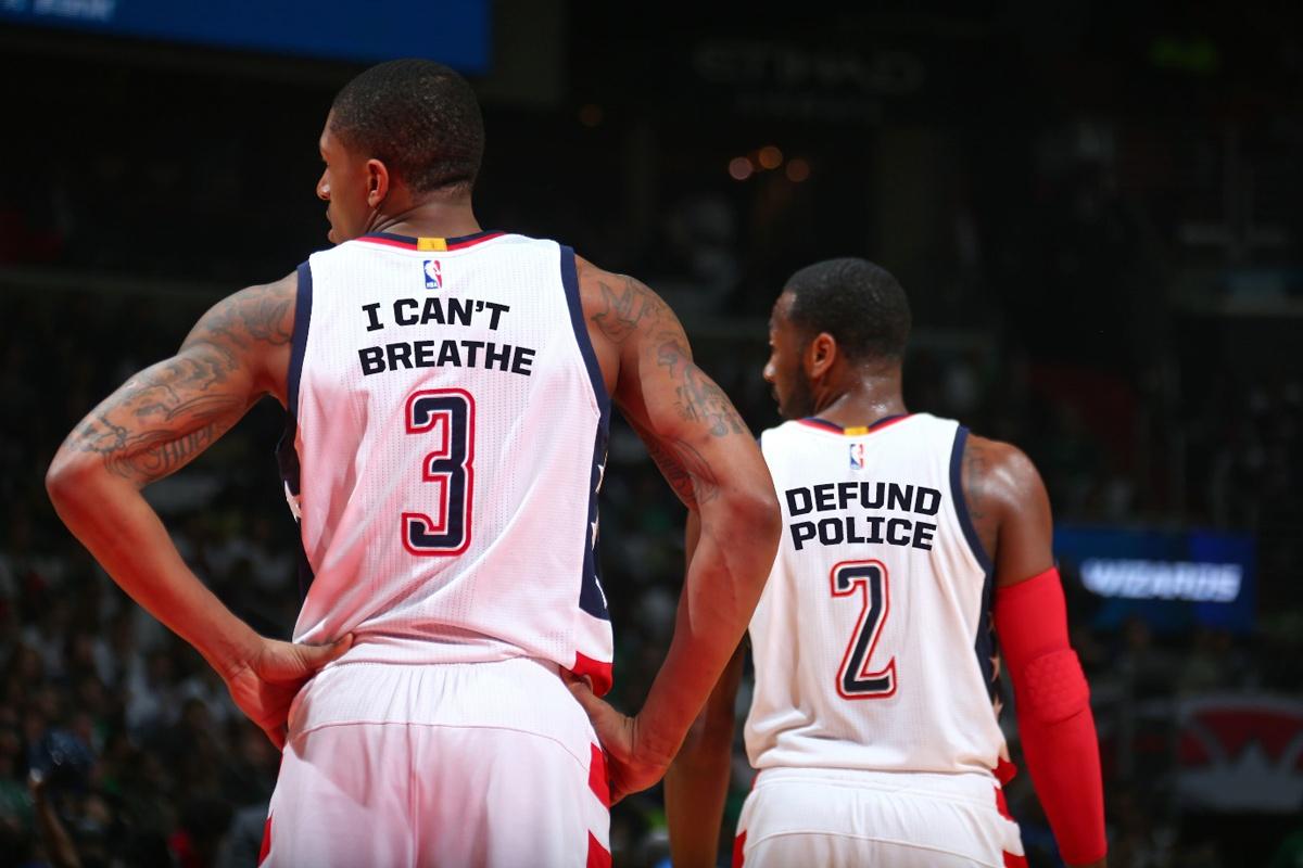 Washington Wizards Bradley Beal And John Wall Social Statements NBA Jerseys
