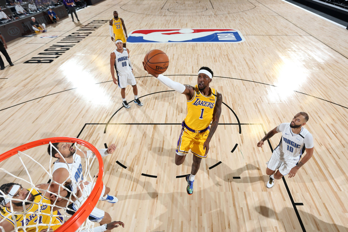 Kentavious Caldwell-Pope Goes In For Easy Lay-up Against The Orlando Magic 2020 NBA Bubble