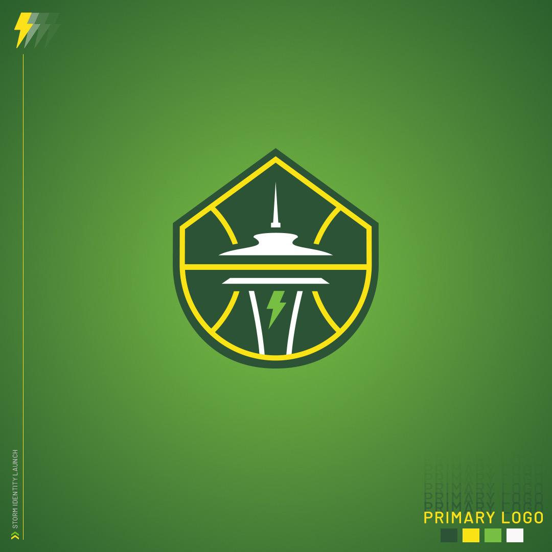 Wnba Seattle Storm New Logo 2021 Light Green