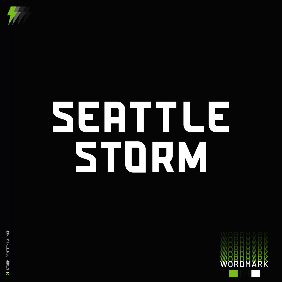 Wnba Seattle Storm New Logo Wordmark 2021 Black