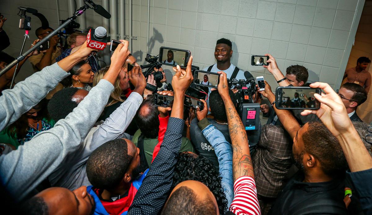 Zion Williamson NBA Media Scrum